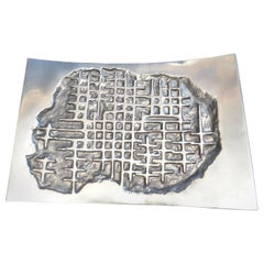 Arnaldo Gamba Cast Aluminium Decorative Tray