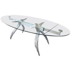 Arnaldo Gamba, Retractable Table, circa 1980, Italy