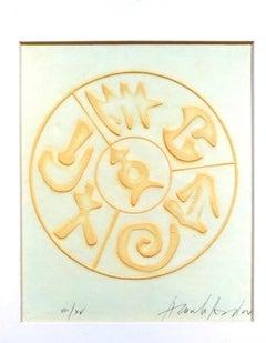 Composition - Original Chacography by Arnaldo Pomodoro - Late 1900