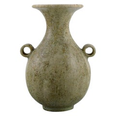 Arne Bang '1901-1983', Denmark. Vase in Glazed Ceramics, Rare Form, 1940s / 50s