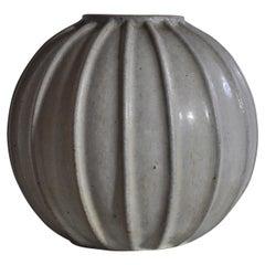 Arne Bang Art Deco Stoneware Vase from Own Studio, 1930s