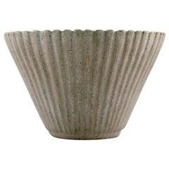 Arne Bang, Ceramic Vase in Fluted Style