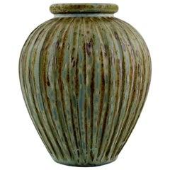 Arne Bang, Denmark, Art Deco Vase in Glazed Ceramics, 1930s-1940s