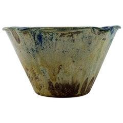 Arne Bang for Holmegaard, Denmark, Unique Bowl in Glazed Ceramics