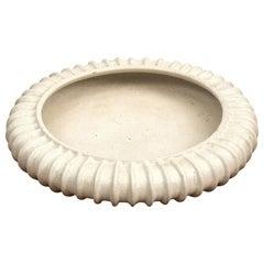 Arne Bang Large Circular Stoneware Dish, Denmark, 1940s