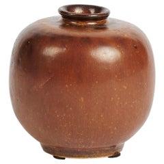 Arne Bang, Round Ceramic Vase, Denmark, 1930s