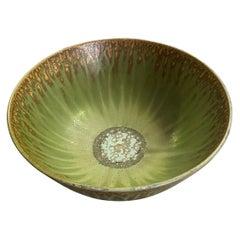Arne Bang Signed Large Mid Century Danish Scandinavian Ceramic Pottery Bowl
