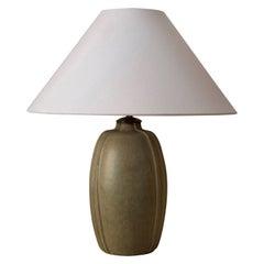 Arne Bang, Sizable Table Lamp, Glazed Stoneware, Studio, Denmark, c. 1927
