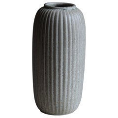 Arne Bang, Sizable Vase, Grey Glazed Stoneware, Studio, Denmark, c. 1927