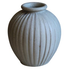 Arne Bang, Small Vase, Grey Glazed Stoneware, Studio, Denmark, c. 1927