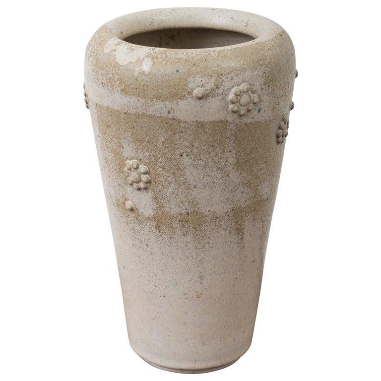 Arne Bang Stoneware Vase with Applied Florets, Denmark, 1950s For Sale