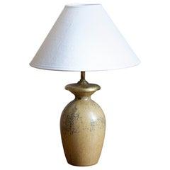 Arne Bang, Table Lamp, Glazed Stoneware, Studio, Denmark, c. 1927