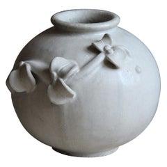 Arne Bang, Vase, Grey Glazed Stoneware, Studio, Denmark, c. 1927