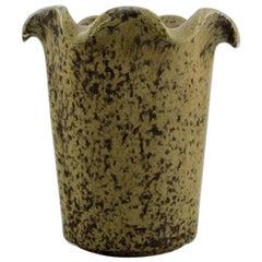 Arne Bang, Vase in Glazed Ceramics, Model Number 208, Beautiful Speckled Glaze