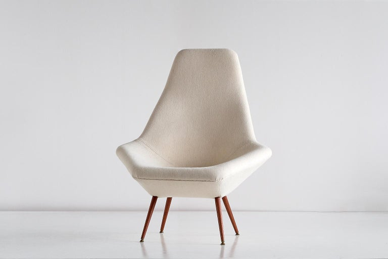 Arne Dahlén Lounge Chair, Dahléns Dalums Fåtöljindustri, Sweden, 1960s For Sale 4