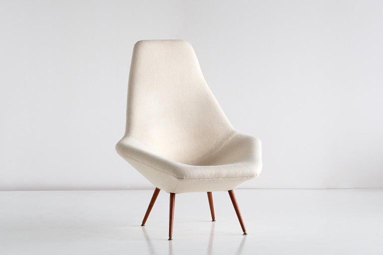 Arne Dahlén Lounge Chair, Dahléns Dalums Fåtöljindustri, Sweden, 1960s For Sale 5