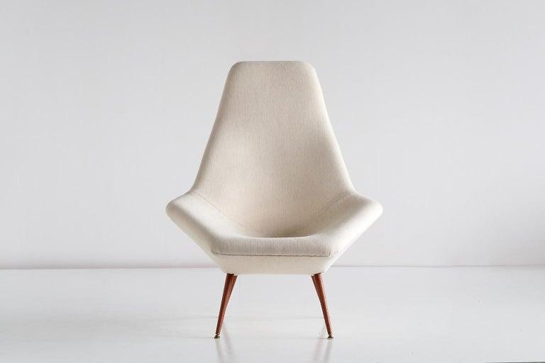 Scandinavian Modern Arne Dahlén Lounge Chair, Dahléns Dalums Fåtöljindustri, Sweden, 1960s For Sale