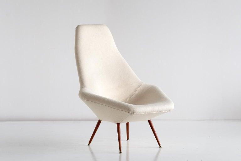 Swedish Arne Dahlén Lounge Chair, Dahléns Dalums Fåtöljindustri, Sweden, 1960s For Sale