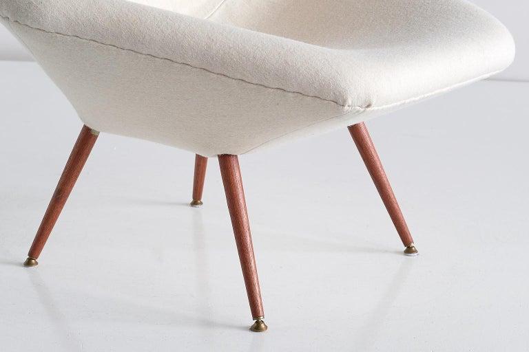Mid-20th Century Arne Dahlén Lounge Chair, Dahléns Dalums Fåtöljindustri, Sweden, 1960s For Sale