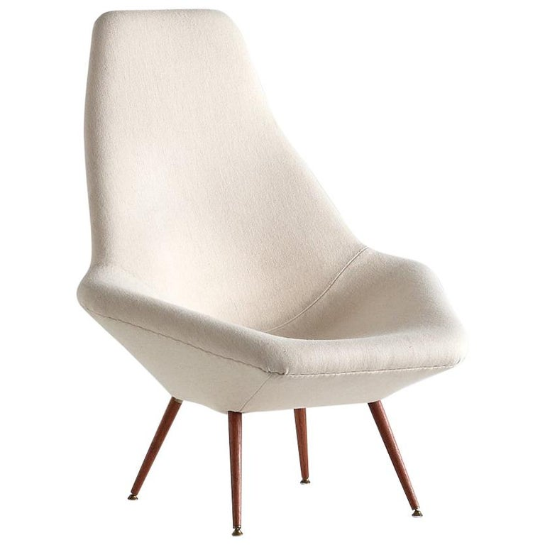 Arne Dahlén Lounge Chair, Dahléns Dalums Fåtöljindustri, Sweden, 1960s For Sale