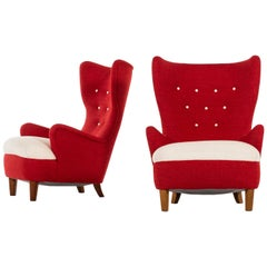 Arne Färnrot Easy Chairs Produced in Sweden
