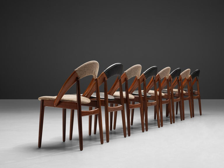 20th Century Arne Hovmand-Olsen Bicolor Set of Dining Chairs