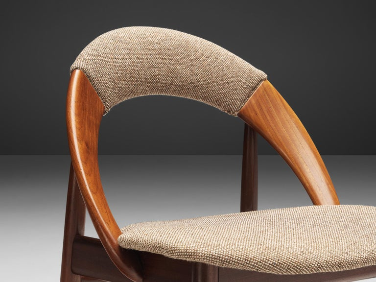 Leather Arne Hovmand-Olsen Bicolor Set of Dining Chairs
