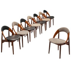 Arne Hovmand-Olsen Bicolor Set of Dining Chairs