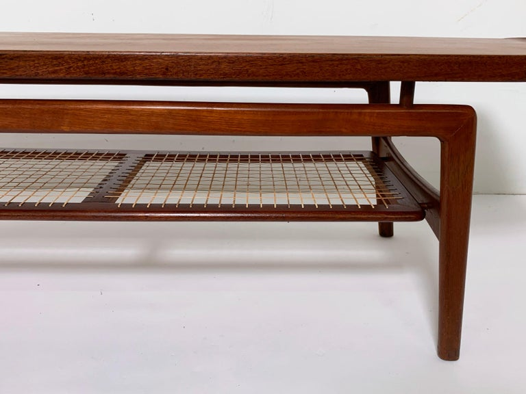 Arne Hovmand-Olsen Danish Teak Coffee Table With Glass Tile Accent, circa 1950s For Sale 4