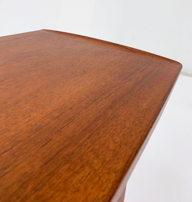 Arne Hovmand-Olsen Danish Teak Coffee Table With Glass Tile Accent, circa 1950s For Sale 1