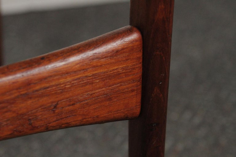 Arne Hovmand-Olsen for Jutex Teak and Leather Rounded Back Chair, 1957 For Sale 3