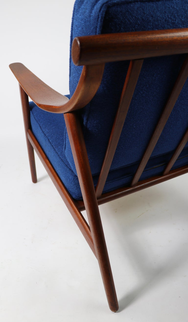 Arne-Hovmand Olsen for Mogens Kold Danish Modern Teak Frame Lounge Chair For Sale 4