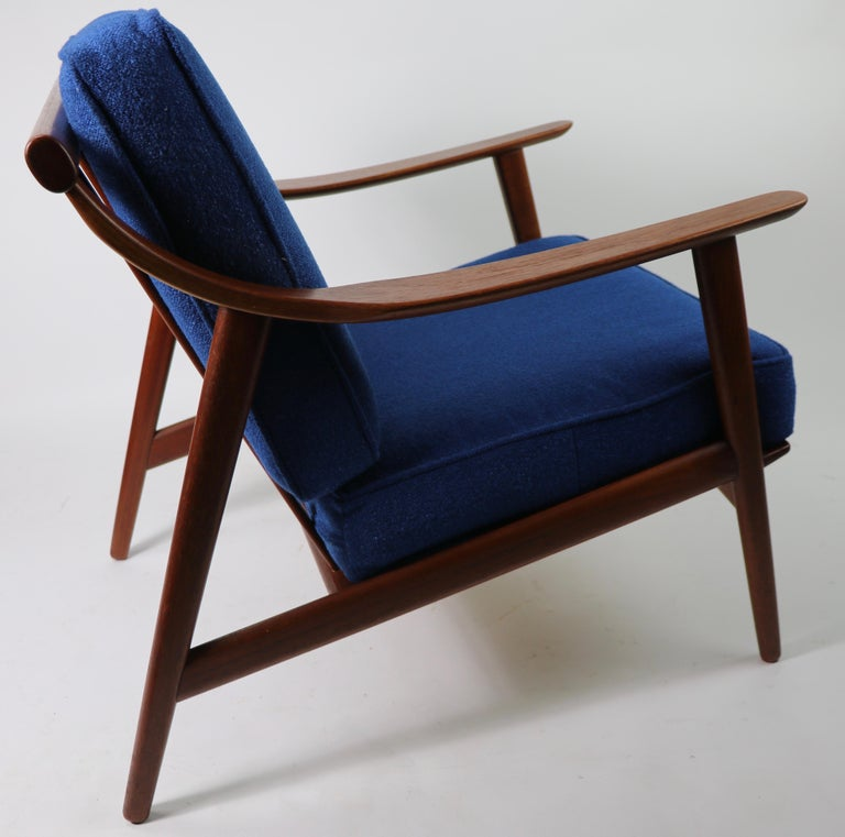 Arne-Hovmand Olsen for Mogens Kold Danish Modern Teak Frame Lounge Chair For Sale 6
