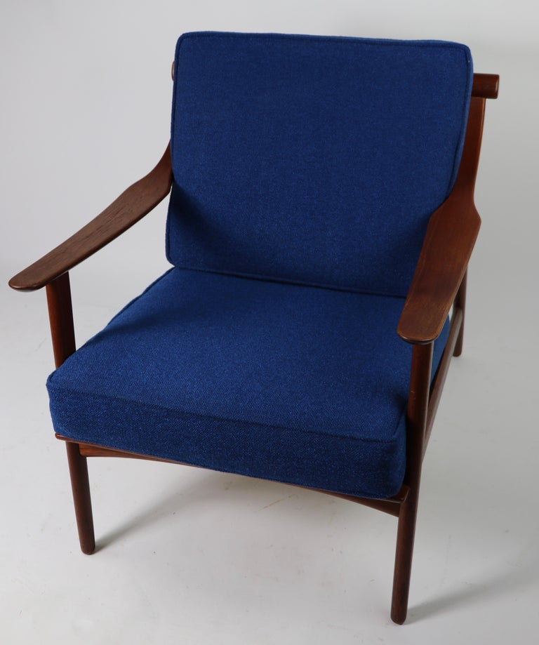 Arne-Hovmand Olsen for Mogens Kold Danish Modern Teak Frame Lounge Chair For Sale 8
