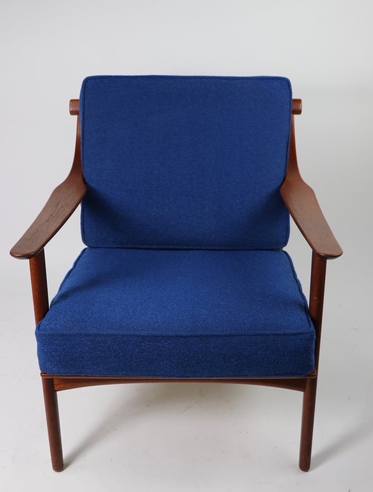 Arne-Hovmand Olsen for Mogens Kold Danish Modern Teak Frame Lounge Chair For Sale 9