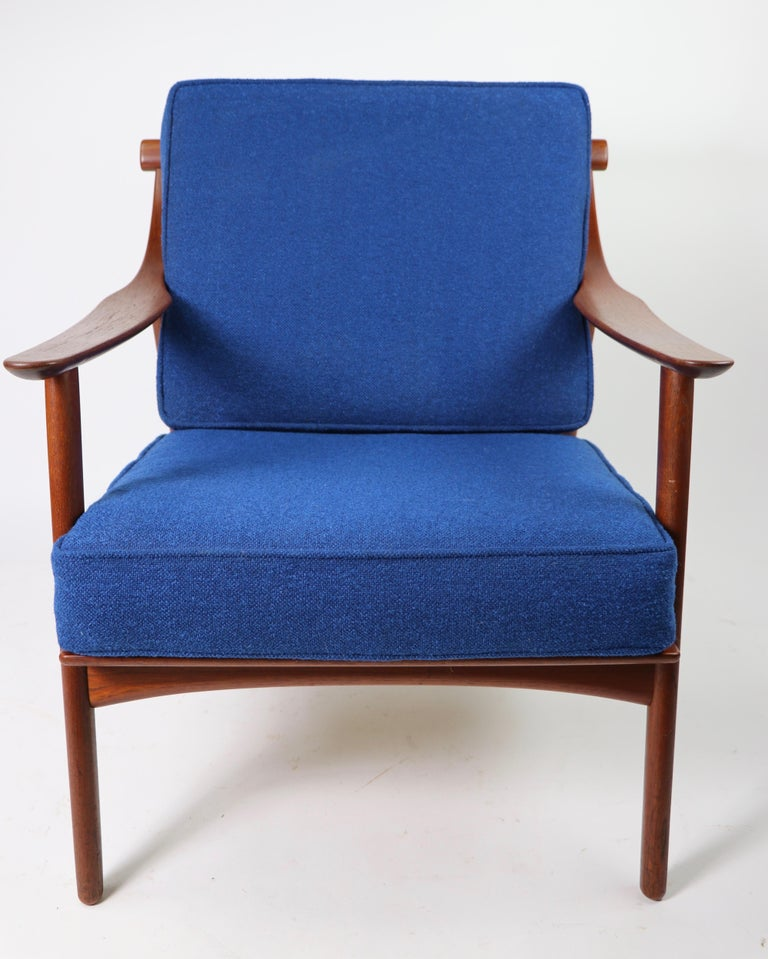 Arne-Hovmand Olsen for Mogens Kold Danish Modern Teak Frame Lounge Chair For Sale 10