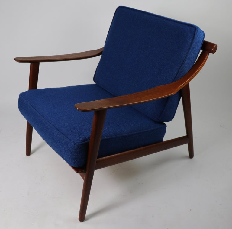 European Arne-Hovmand Olsen for Mogens Kold Danish Modern Teak Frame Lounge Chair For Sale