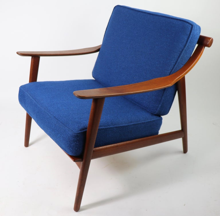 Arne-Hovmand Olsen for Mogens Kold Danish Modern Teak Frame Lounge Chair In Good Condition For Sale In New York, NY