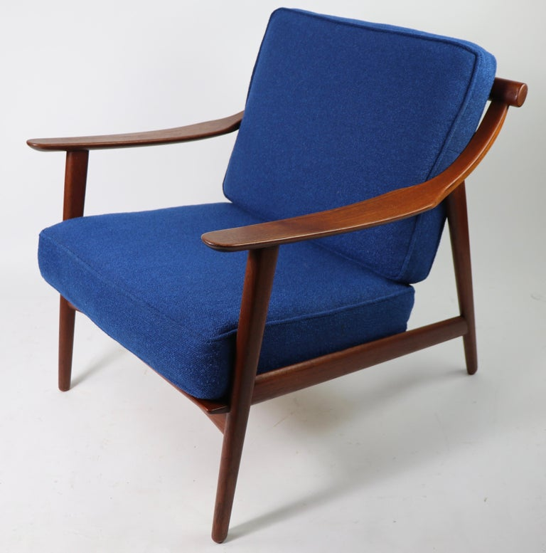 20th Century Arne-Hovmand Olsen for Mogens Kold Danish Modern Teak Frame Lounge Chair For Sale