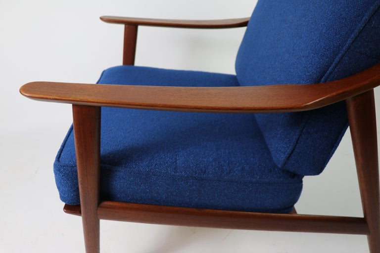 Arne-Hovmand Olsen for Mogens Kold Danish Modern Teak Frame Lounge Chair For Sale 1