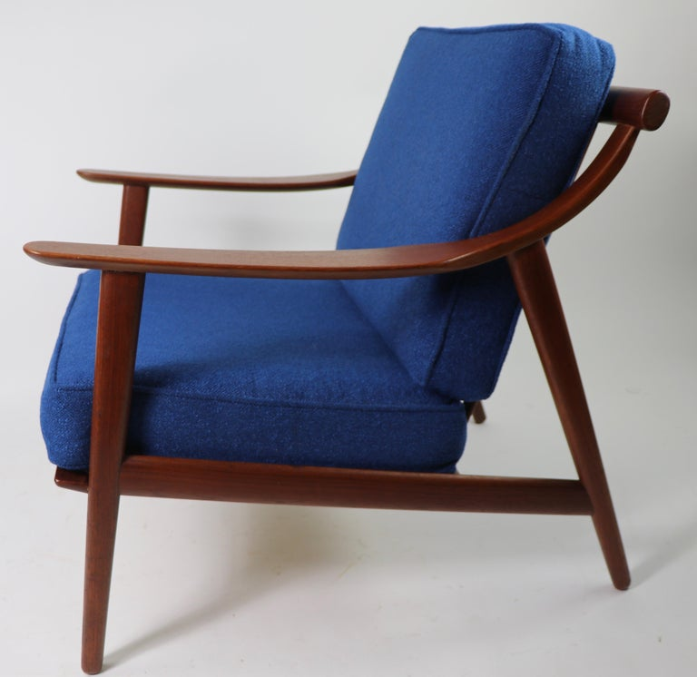 Arne-Hovmand Olsen for Mogens Kold Danish Modern Teak Frame Lounge Chair For Sale 2