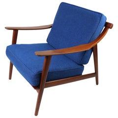 Arne-Hovmand Olsen for Mogens Kold Danish Modern Teak Frame Lounge Chair