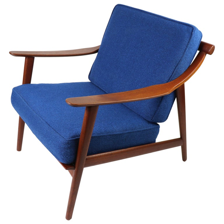 Arne-Hovmand Olsen for Mogens Kold Danish Modern Teak Frame Lounge Chair For Sale