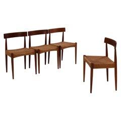 Arne Hovmand-Olsen for Mogens Kold Mid-Century Teak Dining Chairs, Set of 4