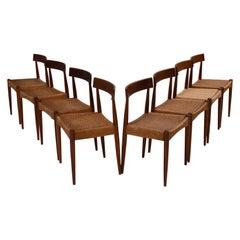 Arne Hovmand-Olsen for Mogens Kold Mid-Century Teak Dining Chairs, Set of 8