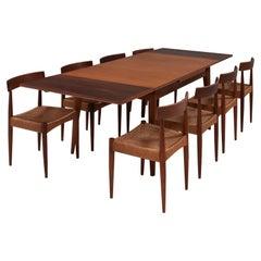 Arne Hovmand-Olsen for Mogens Kold Mid-Century Teak Dining Table and Chairs Set