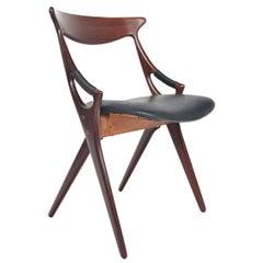Arne Hovmand Olsen Model 71 Teak Chair in Leather