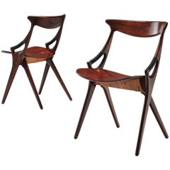 Arne Hovmand-Olsen Mogens Kold Pair of Dining Chairs in Teak