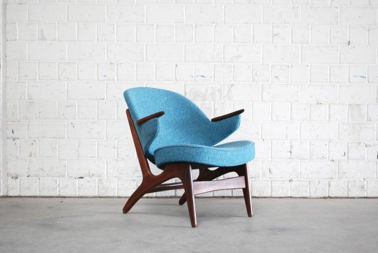 Mid-Century Modern Arne Hovmand Olsen Pair of Easy Lounge Chair, 1960s For Sale