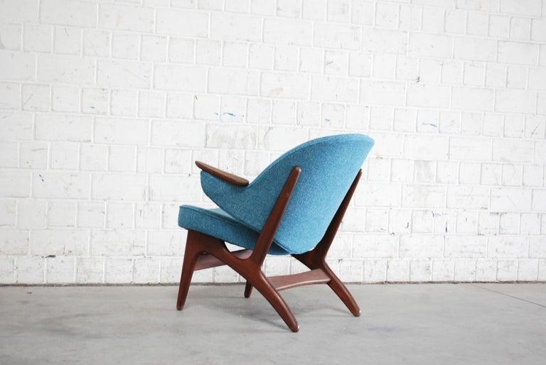 20th Century Arne Hovmand Olsen Pair of Easy Lounge Chair, 1960s For Sale